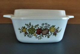 """Corning Ware  4"""" square casserole w/ storage lid Spice of Life vintage - $12.85"""