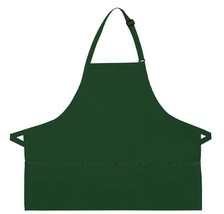 Hunter Green Bib Apron 3 Pocket Craft Restaurant Baker Butcher Adjust US... - $15.65
