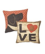 """Love w/ paw print  Pillow Primitives by Kathy 10"""" by 10"""" Dog - $19.99"""