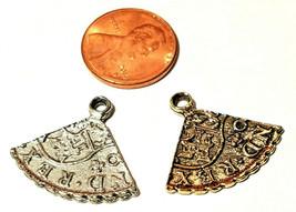 Replica of 1/4 of a 8th century Spanish Coin Ferdinand VI 1749 Pewter Pendant image 2