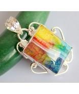 Druzy Silver Overlay Handmade Pendant Jewelry-oj-421-20 - $139,89 MXN