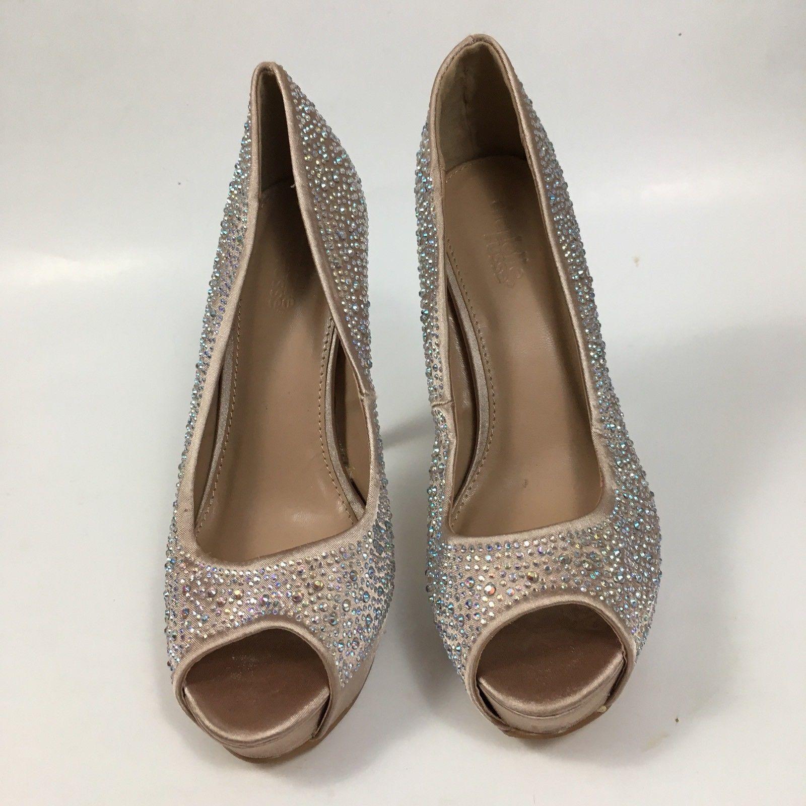 407a9636dd10 Charlotte Russe Women s Sz 6 Ella High Heel Shoes Embellished Open Peep Toe