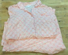 Spa Charter Club Stamp Wall Decr Pajama Set, Pink, Size 3XL - $22.76