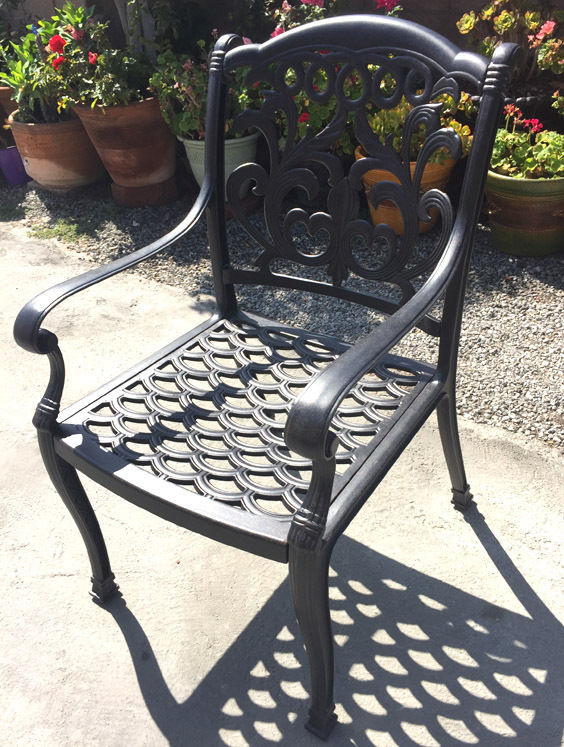 Outdoor Dining Chairs Set Of 6 Cast Aluminum Patio
