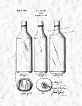 Bottle Patent Print - Gunmetal - $7.95+