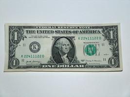 2017 $1 Dollar Bill US Bank Note Low # 1 2 4, 2 Bookends 22411122 Fancy ... - $14.83