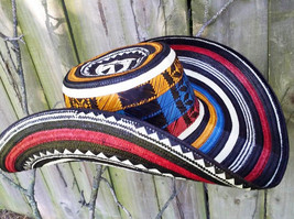 COLOMBIAN HAT FINO SOMBRERO 21 LAPS VUELTIAO COLOMBIA, FLAG COLORS ALL ... - $129.99