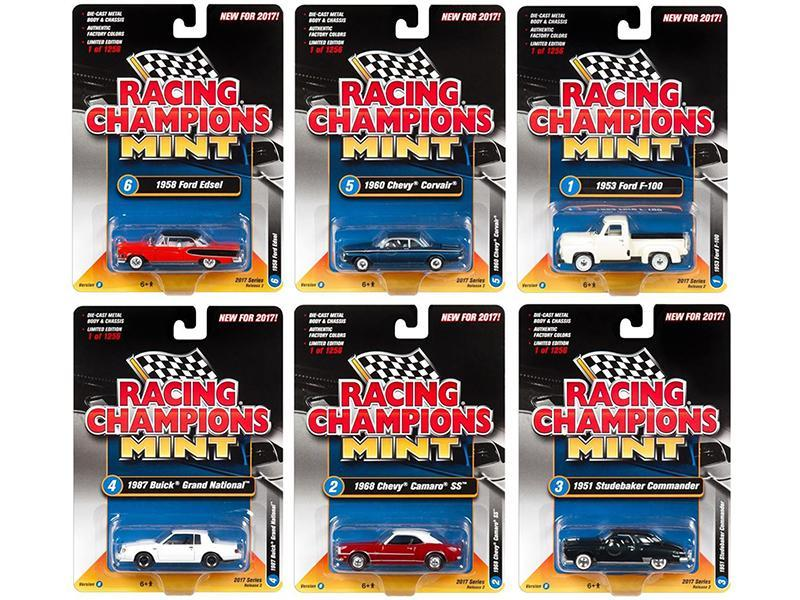 2017 Mint Release 2 Set B Set of 6 Cars 1:64 Diecast Model Cars