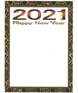 Happy New Year 2021 Rose Stationery Printer Paper 26 Sheets - $10.88