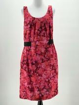 Ann Taylor Loft Women's Pink Red Floral Sleeveless Dress Size 8 - $17.82