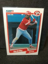 1990 Fleer Ken Griffey Cincinnati Reds #420 Baseball Card HOF GQ - $27.71