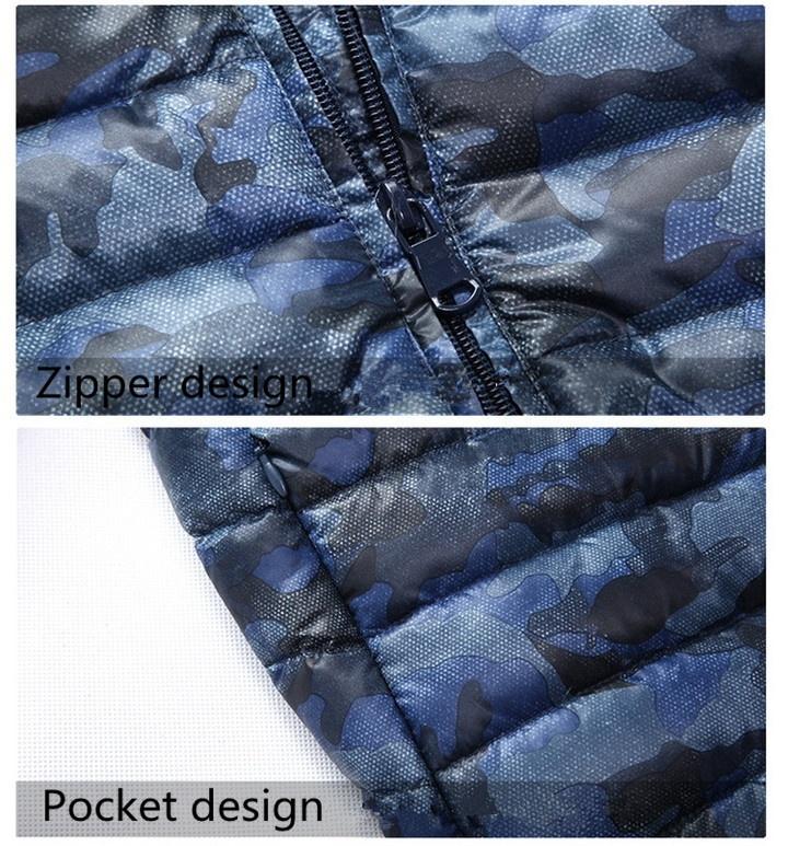 2018 Winter New Thin Down Jacket Short Section Men's Hood Down Jacket Men's Slim image 7