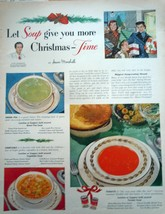 Campbell's Soup Christmas Time Print Magazine Advertisement 1950 - $5.99