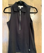 Michael Kors Womens Zippered Tank Black Size Small - $24.75