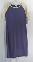 Womens Lu La Roe Dress Julia Large Dark Blue Oatmeal Nwt - $44.59