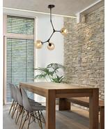 Nordic Modern Glass Bubble Lindsey Chandelier Black Finish E27 Ceiling Lamp - $135.24