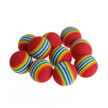P-28 10Pcs Colorful Cat Toy Ball Interactive Play Chewing Rattle Scratch... - $9.90