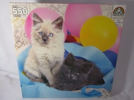 NEW Kittens and Balloons 550 Piece Jigsaw Puzzle Random House Cats - $11.87