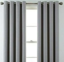(1) JCPenney JCP Liz Claiborne Quinn Basketweave GRAY Grommet Curtain 50 x 84 - $68.59