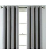 (1) JCPenney JCP Liz Claiborne Quinn Basketweave GRAY Grommet Curtain 50... - $68.59