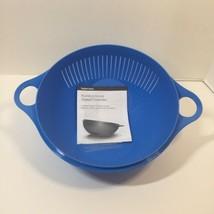 Multifunctional Thatsa Colander Strainer Tilt Tupperware Blue  - $14.50