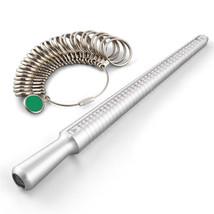Silver Ring Sizer Finger Sizing Measuring Stick Metal Ring Mandrel US Si... - $14.99