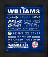 """Personalized New York Yankees """"Family Cheer"""" 13 x 16 Framed Print - $39.95"""