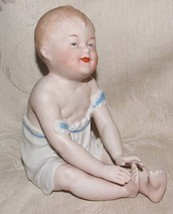 "Antique 1882-91 Large 6"" German Heubach Bros Piano Baby Bisque Figurine Germany - $365.00"