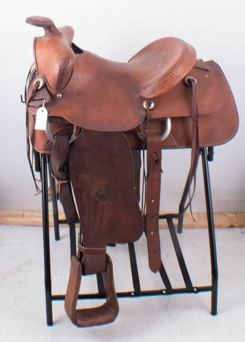 "Primary image for Tex Tan Genuine Leather Ranch Pleasure or Trail Western Horse Saddle 15.5"" FQHB"