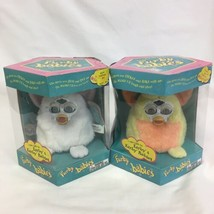 1999 furby babies, Yellow/Orange And Snowy White, Vintage Pair FACTORY S... - $79.20