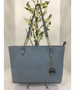 Michael Kors Bag MK Jet Set Chain Item Blue Saffiano Leather EW Tote B1 - $103.90