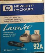 Genuine HP Laserjet 1100 1100A, 92A Black Toner Cartridge C4092A - New i... - $55.00