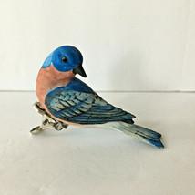 Hand Painted Ceramic Bird Dove Figurine Clip - £6.10 GBP