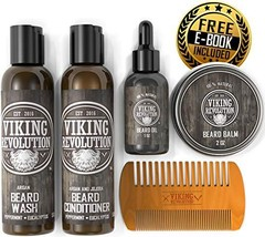 Ultimate Beard Care Conditioner Kit - Beard Grooming Kit for Men Softens, Smooth