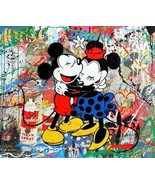 Mr Brainwash Oil Painting on Canvas Graffiti art Mickey & Minnie Mouse 2... - $18.80+
