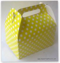 YELLOW WHITE POLKA SOFT Party Supplies BOXES Birthday Decoration GABLE x... - $12.82