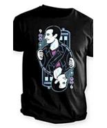 Doctor Who 9 of Hearts Poker Cards Eccleston Short Sleeve Black T Shirt ... - $19.99
