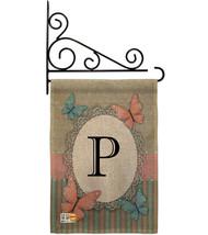 Butterflies P Initial Burlap - Impressions Decorative Metal Fansy Wall Bracket G - $33.97