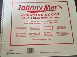 Johnny Mac's Tennis Scorebook - $39.48