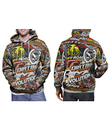 Dirt Bike Rider MX Xtreme Stickerbomb Hoodie Mens - $41.80+