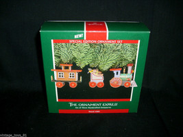 Vintage Christmas The Ornament Express 3 Train Special Edition Set 1989 Hallmark - $7.34