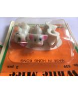 lot of 9 white mice Fibre craft USA Miniatures No 8595 Hong Kong New - $25.75