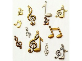 Music Note Charms, Set of 12