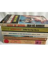 5 Vintage Sci-Fi Paperback Books Lot BUCK ROGERS, Leviathan, Gathol, Fac... - $28.75