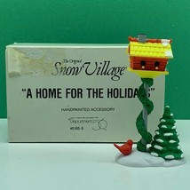 Department 56 Snow village Christmas figurine box 5165-9 home holiday bi... - $14.45