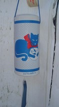VTG Paul Marshall 82 cat with fishbowl Country Fair wind chime -cat love... - $24.70