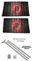 ALBATROS 3 ft x 5 ft Powmia POW MIA Red Black 2ply Flag Galvanized Pole ... - $76.68