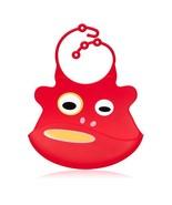 Red Monkey Silicone Baby Bib - Ulubulu - CPSIA Compliant - Fun Toddler Bib - $17.99