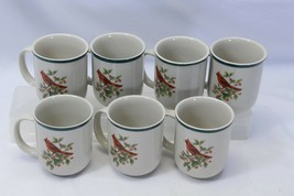 "Thomson Cardinal Xmas Mugs 3.75"" Lot of 7 - $42.09"