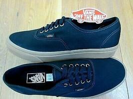 ac03299c16 Vans Authentic Mens Light Gum Black Canvas Skate Boat shoes Size 8 NWT -   49.49